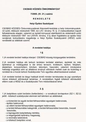 7_2005_rendelet_cimlap